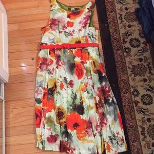 Beautiful watercolor dress for wedding season!